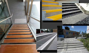 Anti slip stair nosing